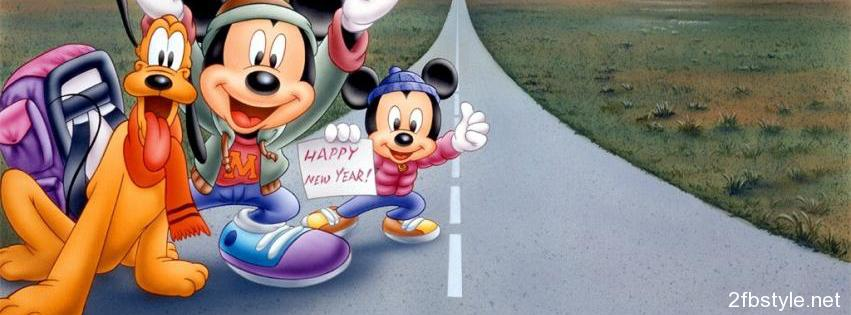 Portada para facebook de Micky and Pluto