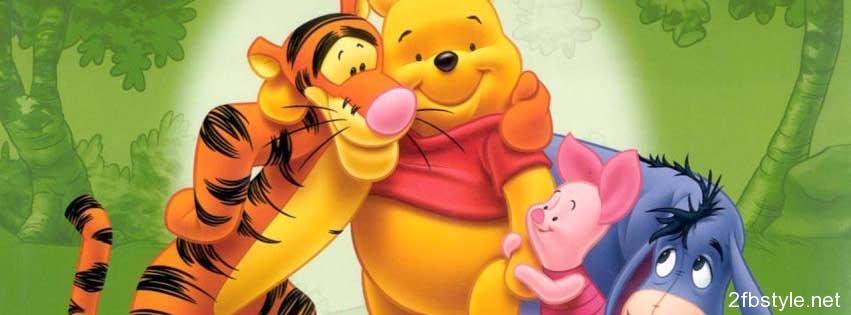 Portada para facebook de Winnie the Pooh y amigos
