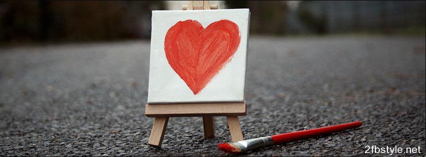 portada para facebook corazon pintado