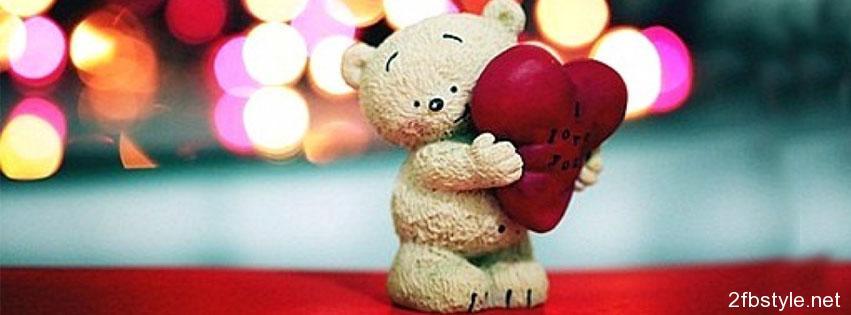 Portada para facebook de oso amor