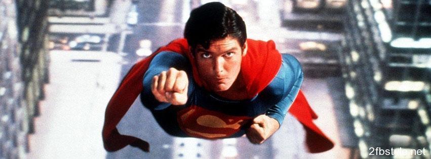 Portada para facebook de superman retro