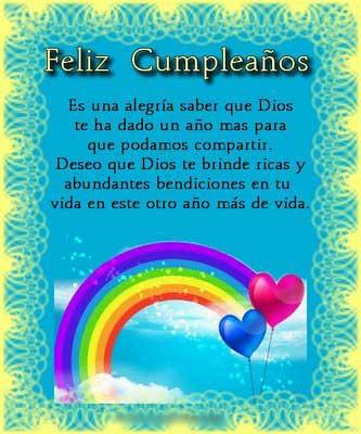 Feliz cumpleaños en mensajes de cumpleaños
