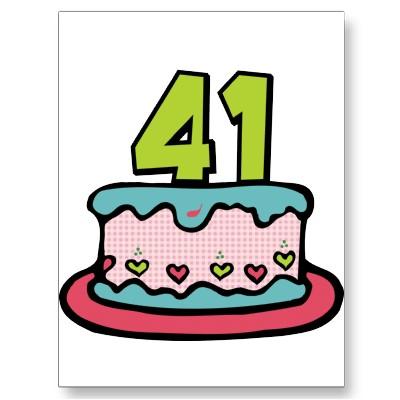 Imagenes de cumpleaños para los cuarenta y un años torta de cumpleaños
