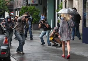 Fotografías de famosos tomadas por paparazzis