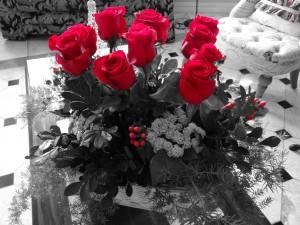 Fotos de un ramo de rosas para la mejor abuela