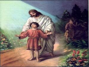 Ninos Jesus con un nino