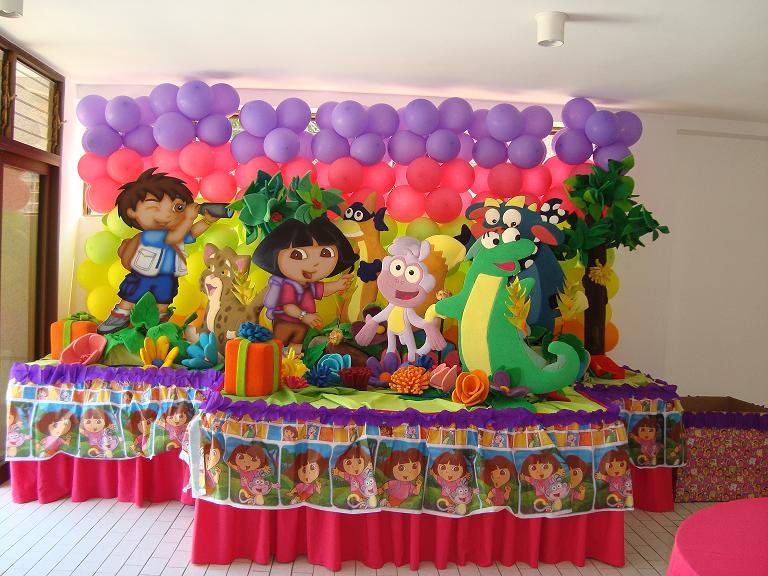 decoracion para fiesta de nia with arreglos para fiestas infantiles