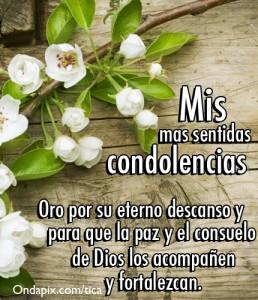 Ms mas sentidas condolencias