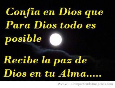 Confia en dios que para dios todo es posible