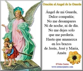 Oracion al angel de la guarda