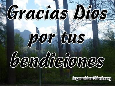 Gracias Dios por tus bendiciones