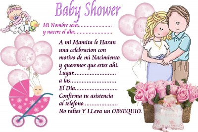 Tarjeta para baby shower