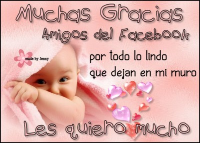 Muchas gracias amigos de facebook