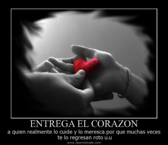 Te entrego mi corazon