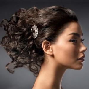 peinado para cabello rizado