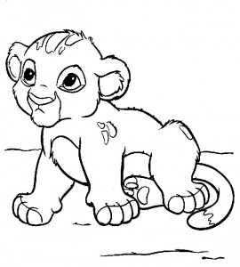 cachorro de leon para colorear