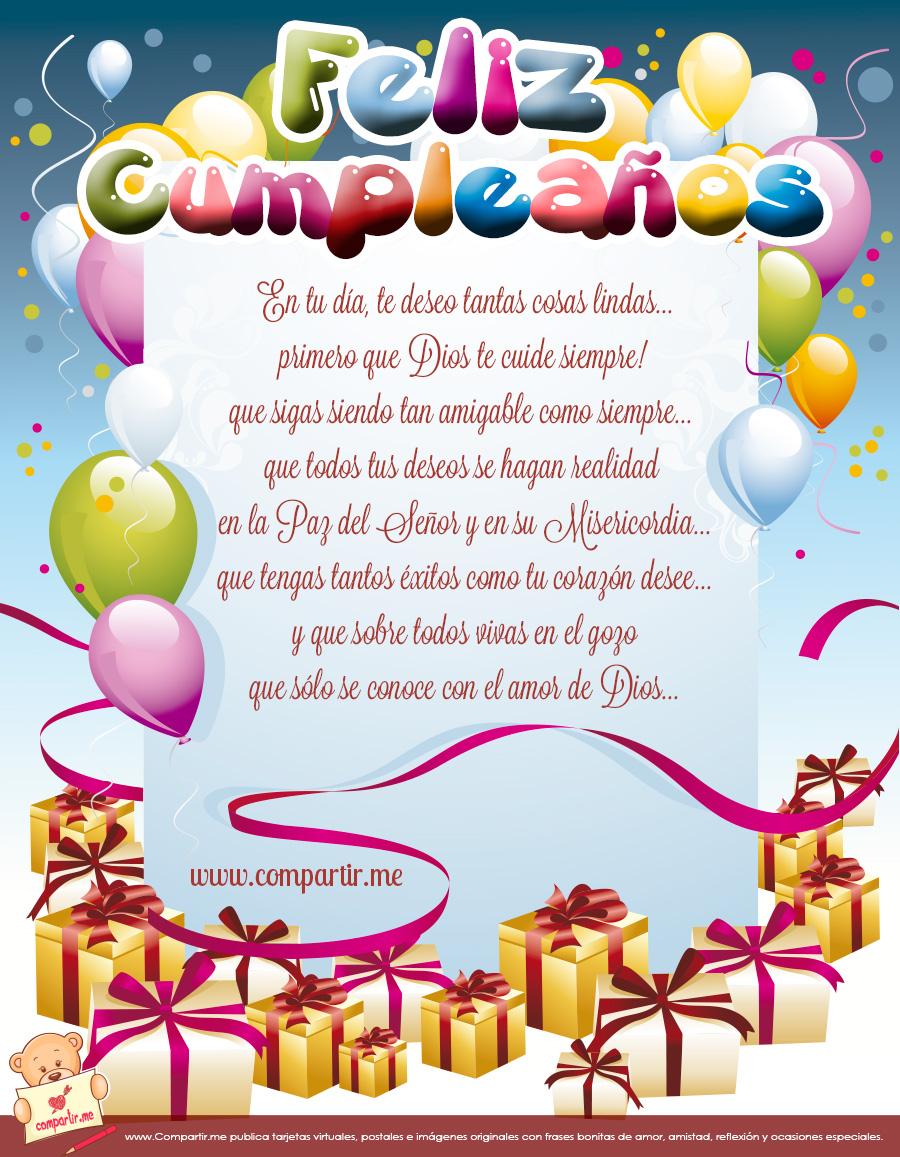 Cumpleaños felicitaciones en tarjetas