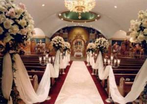 decoracion de boda en la iglesia