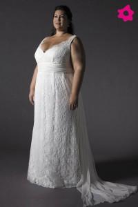 Vestido de novias para gorditas tallas especiales
