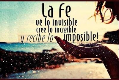 La fe ve lo invisible