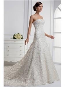Lindo estilo  de vestido de novia