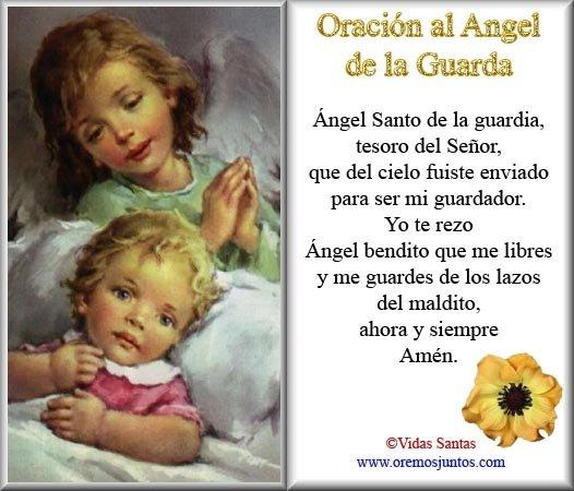 Imágenes De ángeles De La Guarda Con Oración Descargar Imágenes Gratis