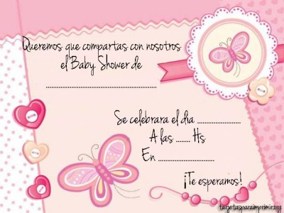 Invitacion a baby shower