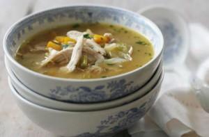 sopa de pollo para aliviar la tos