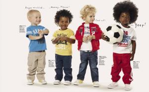 niños luciendo la moda de primavera-verano