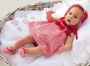 vestido para bebe en verano