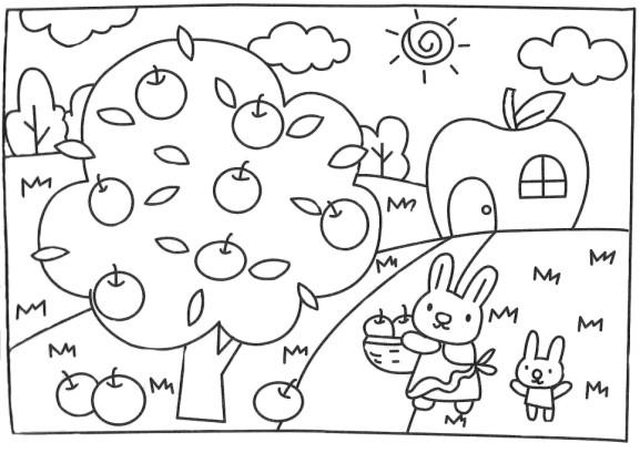 Dibujos Para Colorear De Arboles Frutales: Imágenes Para Colorear De Arboles Frutales